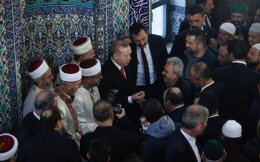 During his visit to Greece, Turkish President Recep Tayyip Erdogan also traveled to Komotini in northwestern Greece, where he met with representatives of the Muslim minority.