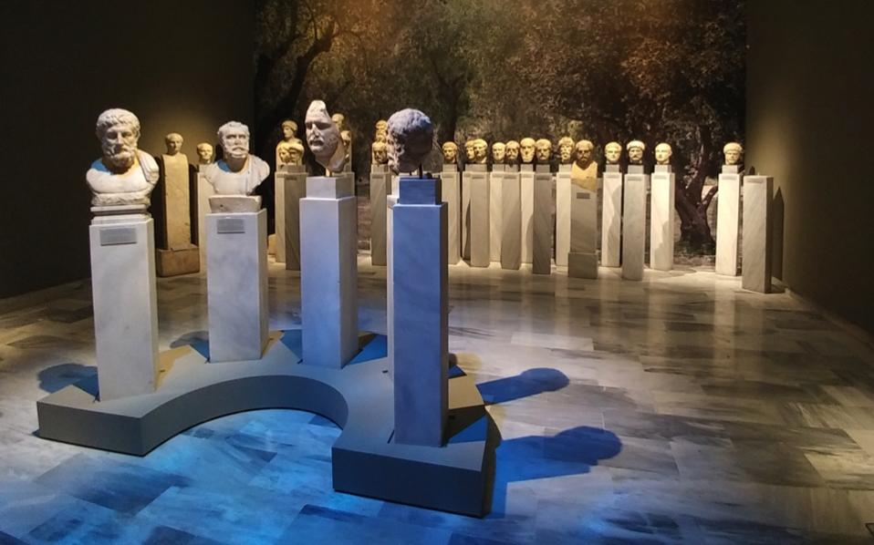 Forty pieces are on display in the Athenian Kosmetai gallery through November 2018.