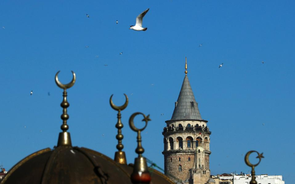 Historical Galata Tower is pictured in Istanbul, on Wednesday.