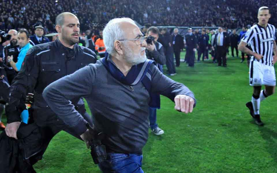 PAOK president gets three-year ban for gun incident