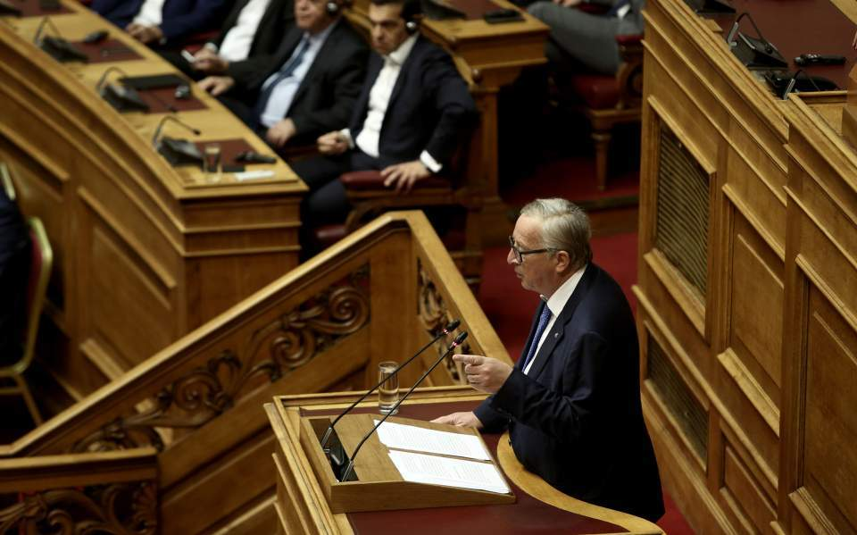 Juncker says confident Greece will be 'normal' country by summer
