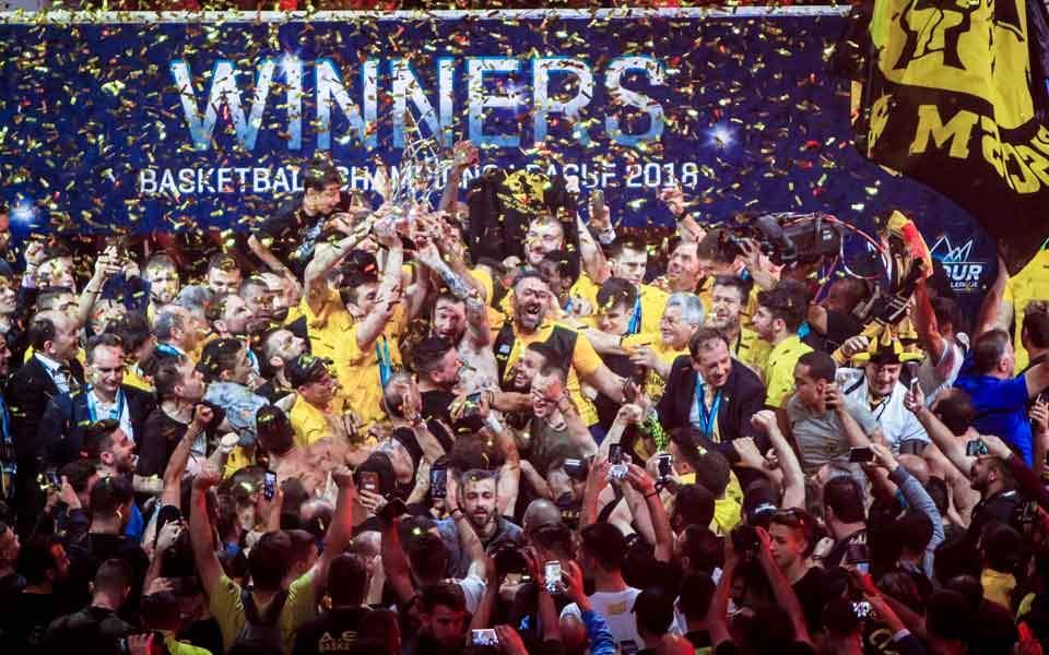 TAGS Basketball AEK Won The Third European Trophy