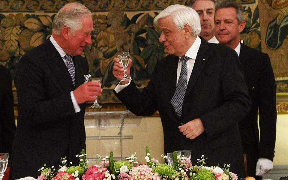 Prince Charles accepts invitation from Greek President