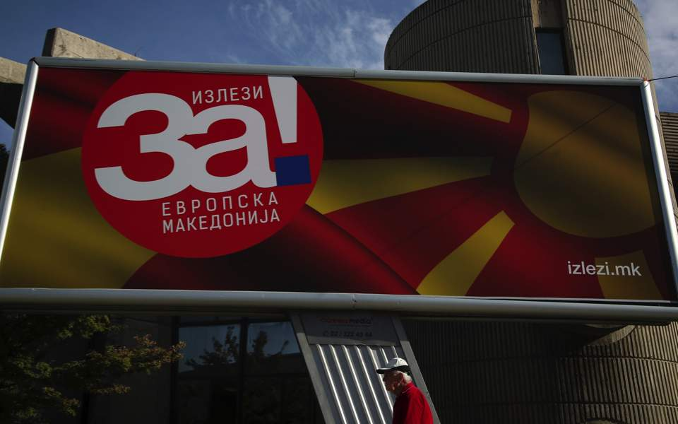 Macedonians vote on whether to change country's name