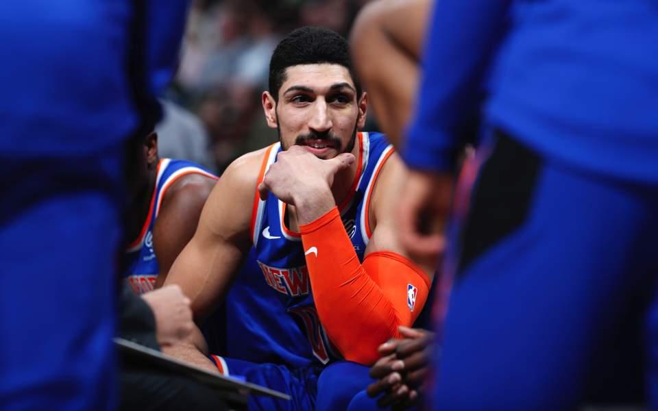 New York Knicks NBA Big Boys Brilliant Baskebtall Shorts Black and Blue