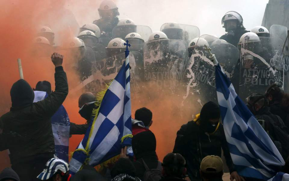Police reaction at anti-Prespes rally fuels political row, Yiannis Souliotis | Kathimerini