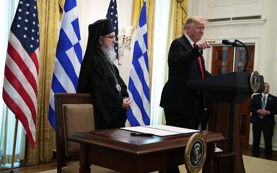 US president hails Greek-American community at independence day celebration | Kathimerini