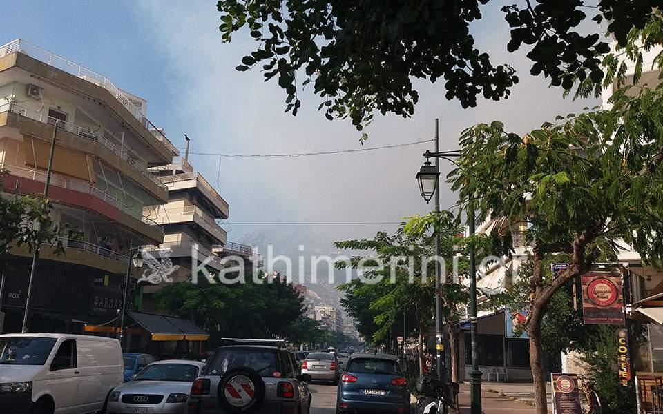 Fire raging near Loutraki