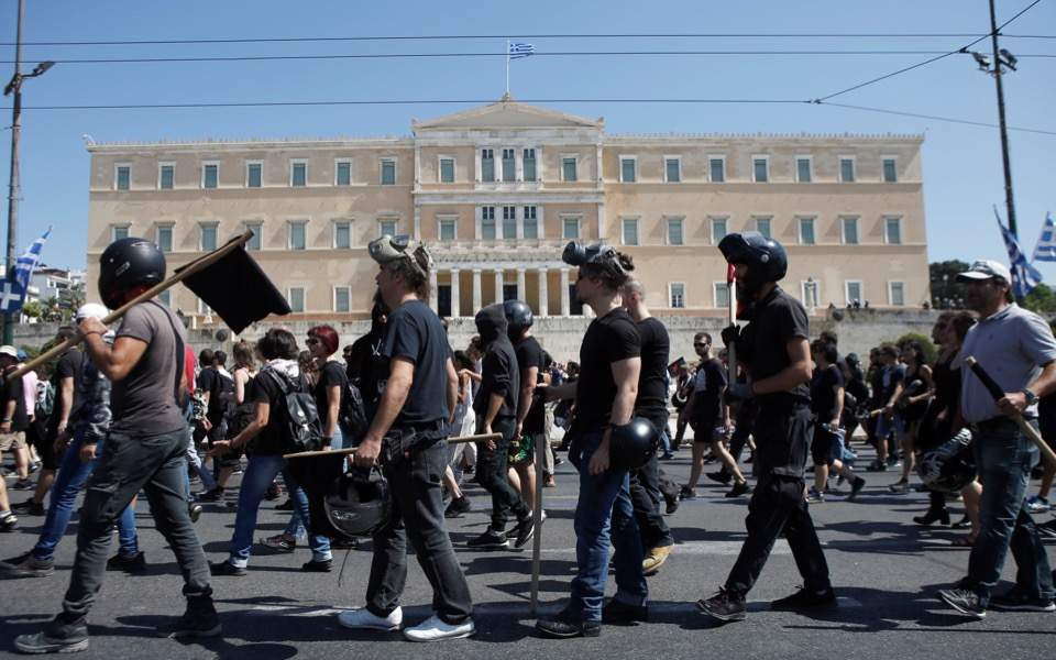 Protest in central Athens over Exarchia squat evictions