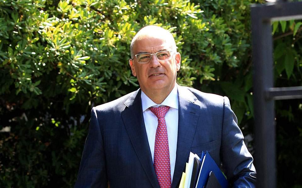 Greek FM Dendias welcomes EU reaction to Turkey