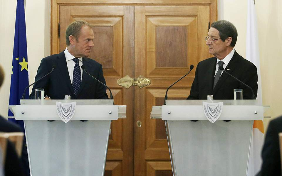 Tusk calls on Turkey to stop drilling off Cyprus