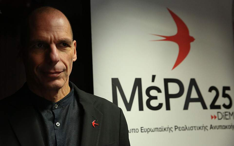 Varoufakis' MeRA25 party to oppose diaspora vote bill