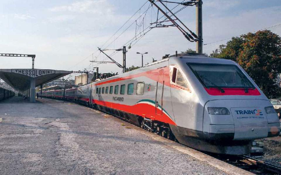 Plans for fast Athens-Thessaloniki train going slow