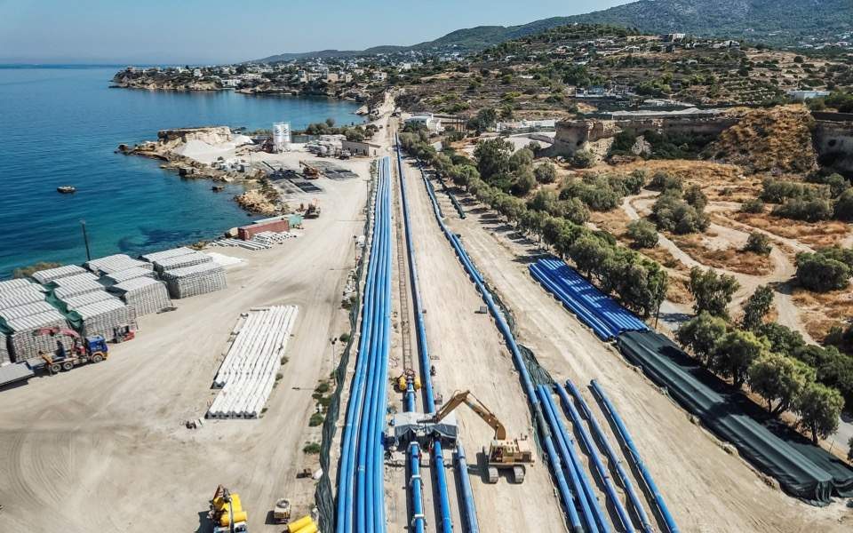 Water pipe that will link Aegina, Athens vandalized, Giorgos Lialios | Kathimerini