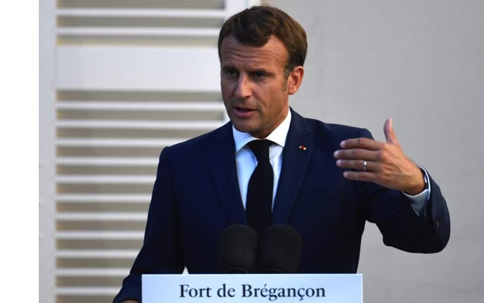 Macron Calls For De Escalation Of Tensions Respect For Sovereignty In East Med News Ekathimerini Com