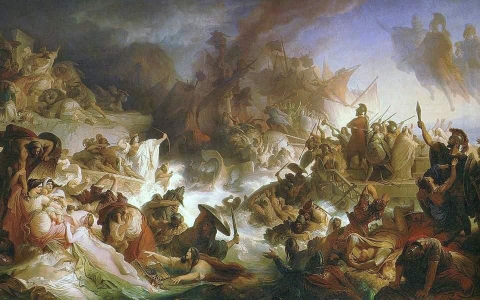 kaulbach_wilhelm_von_-_die_seeschlacht_bei_salamis_-_1868