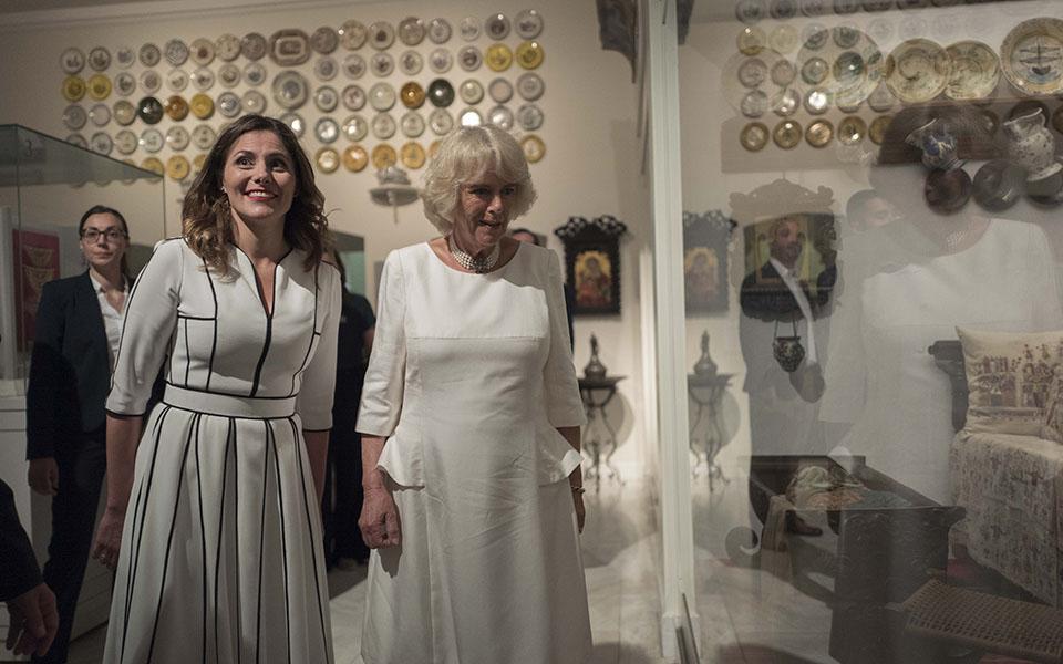 duchess-of-cornwall-visits-benaki-museum-in-athens5
