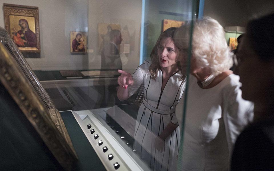 duchess-of-cornwall-visits-benaki-museum-in-athens3