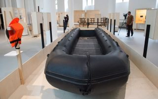migrant-boat-goes-on-display-in-dresden
