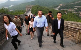 greek-pm-visits-the-great-wall-of-china