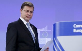 greece-on-track-with-program-but-imf-too-pessimistic-dombrovskis-says