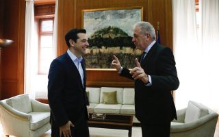 eu-migration-commissioner-meets-with-greek-pm-on-refugee-crisis-ukraine-visit