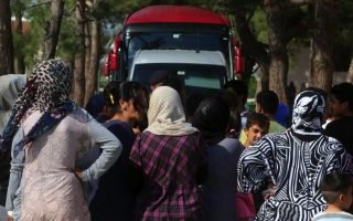 protest-at-reception-center-as-migrant-influx-continues0