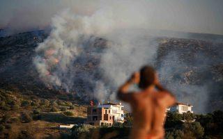 firefighters-still-battling-blaze-east-of-athens