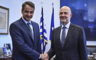 mitsotakis-cautions-moscovici-on-statements-about-greece