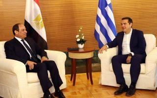 tsipras-el-sisi-discuss-eez-delineation