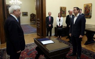 pm-alexis-tsipras-sworn-in-as-foreign-minister