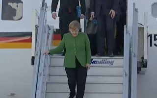 merkel-arrives-in-athens-for-two-day-visit