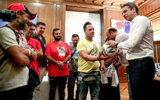 greek-pm-welcomes-national-homeless-soccer-team