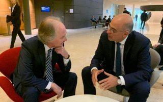 dendias-un-special-envoy-for-syria-discuss-turkey