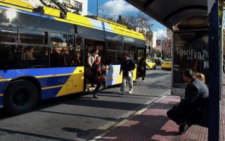 athens-trolley-bus-drivers-hold-4-hour-stoppage-on-wednesday