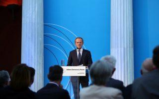 tusk-addresses-athens-democracy-forum