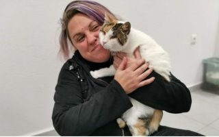 blind-abused-cat-finds-new-home-in-athens