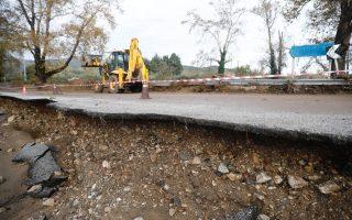 flooding-damages-roads-in-halkidiki