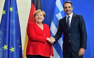mitsotakis-merkel-discuss-burgeoning-refugee-crisis