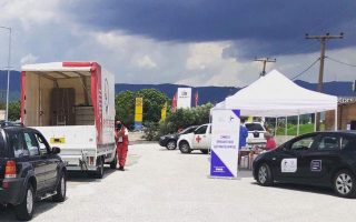 first-drive-through-center-for-covid-tests-in-xanthi