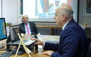 fm-pledges-greek-contribution-in-international-efforts-to-rebuild-syria