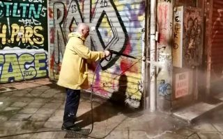key-athens-street-purged-of-graffiti-in-cleanup-drive