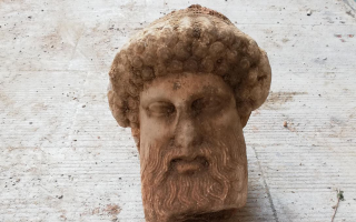 bust-of-hermes-discovered-during-sewage-works