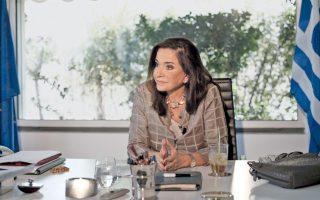 dora-bakoyannis-heading-greek-delegation-in-pace-meeting