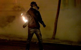 police-come-under-molotov-attack-in-downtown-athens