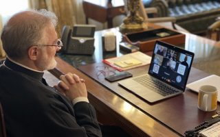 archbishop-elpidophoros-gives-virtual-briefing-on-covid-19-talks-with-us-health-secretary