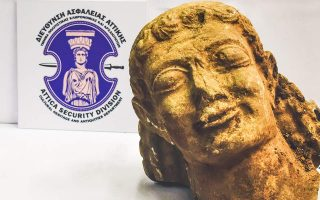 antiquities-police-seize-rare-6th-century-bc-statue-fragment-in-corinth