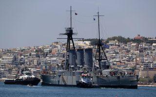 historic-battleship-docks-in-thessaloniki