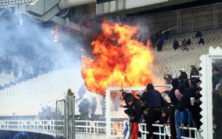 aek-to-play-behind-closed-doors-punished-for-crowd-trouble-in-european-match0