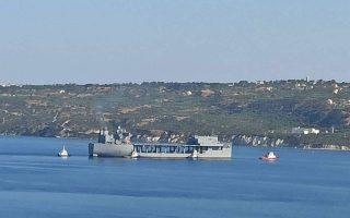 uss-hershel-amp-8216-woody-amp-8217-williams-arrives-in-crete